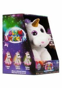Kids Glow Unicorn Super Soft Plush Cuddle Toy With LED Changing Colours