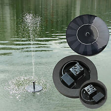 Outdoor Solar Power Fountain Water Pump Pool Garden Pond Submersible Watering