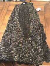 NWT LuLaRoe Joy Duster Vest Soft Sweater Knit Black White Size Large