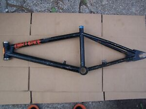 VINTAGE S&M BIKES FRAME FLAT BLACK BMX BIKE DIRTBIKE  90's USED