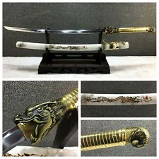 Handmade Japanese Samurai Sword Dragon Tsube Katana Carbon Steel Sharp Blade-201