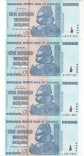 ZIMBABWE 100 TRILLION set of 5!! consecutive ERROR&RARE notes,CRISP UNCIRCULATED