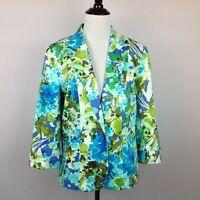 89th & Madison Blazer Jacket Womens Medium Floral