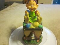 "Disney ""DOPEY"" Solar Jewel Garden Statute Snow White & Seven Dwarfs -NEW"