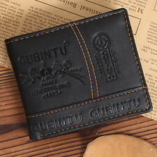 Mens Leather Bifold Wallet Credit/ID Card Receipt Holder Coin Purse Wallets Hot.