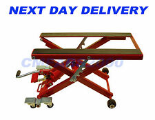 500kg 1100lb, 6 Wheeled Hydraulic Motorcycle / ATV Motor Bike Lift Table Stand