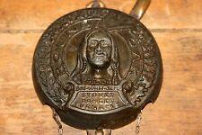 Antique Advertising Round Oak Doe Wah Jack Indian Cast Iron & Metal Damper