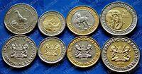 ✔ Kenya 1 5 10 20 shillings 2018 UNC African wildlife Bi-Metallic