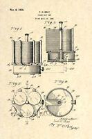 Official 1928 Poker Chip Set US Patent Art Print - Antique Vintage Casino-19