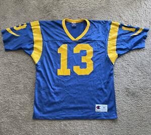 Kurt Warner Champion St. Louis Rams Jersey 44 Large