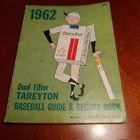 Tareyton baseball guide and record book, 1962