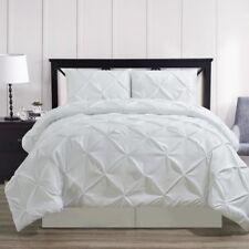 Luxury Oxford Decorative Pinch Pleat Comforter Diamond Pin Tuck Pattern Set