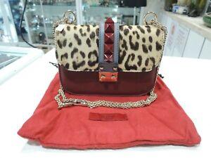 Valentino Rocklock Medium Leopard-Print Calf Hair and Leather Crossbody Bag