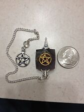 Amethyst Pentacle Pentagram Gemstone Pendulum Healing Reiki Dowsing