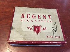 Antique REGENT Cigarettes Box (not tin) with Tax Stamp