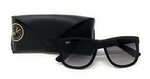 Ray-Ban Justin Classic Black Frame Grey Gradient Lenses RB4165-601/8G-54/16