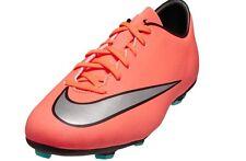 Nike Jr Mercurial Victory V FG Soccer Cleats Orange Silver Black $60 Boys US 3y