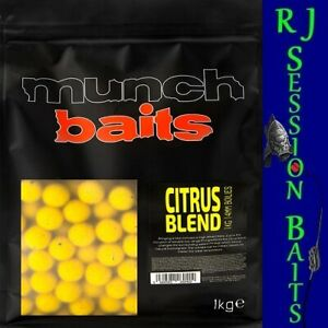 Munch Baits Citrus Blend 14mm Session Pack of 25 Boilies