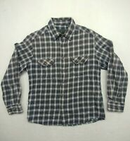 Field & Stream Mens Large Button Up Flannel Shirt Multicolor Plaid Long Sleeve