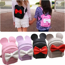Women Cute Leather Backpack Bow Mickey Mouse Mini Travel Shoulder Bags Rucksacks