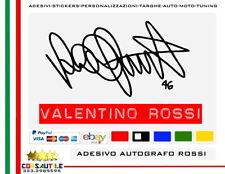 2x Valentino Rossi Adesivo Prespaziato vinile Autografo 15x9 cm Senza Fondo