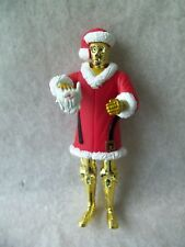"Star Wars C-3Po Santa Figure! Holding Santa Beard! Legs Move! 4"" Tall! 2002!"