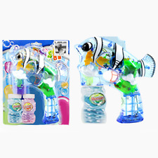 Bubble gun toy light up music Dory  fish gun 2 refills, batt. included.