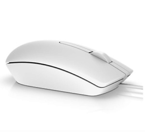 New For DELL MS116 High Performance Optical Mouse USB Wired Mouse Black/White