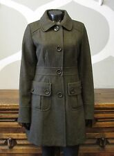 TULLE Anthropologie Small Deep Green Wool Long Winter Coat - S