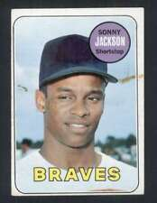 1969 Topps #53 Sonny Jackson FAIR Braves 50369