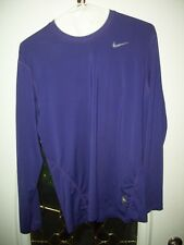 Nike Dri-Fit Pro Combat Men's Fitted Shirt Size L Purple long sleeve