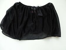 BLACK SHEER BALLET DANCE JAZZ TAP SKIRT girls child extra small 4-6