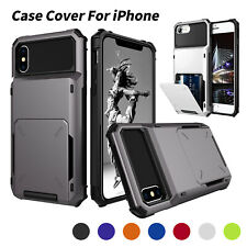 Case for iPhone 11 Pro Max X XS XR Shockproof Protective Cover with Card Holder