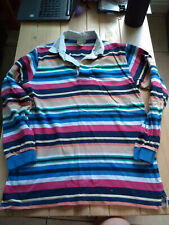 second hand ladies cotton traders striped size s top
