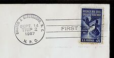 FIRST TRIP HPO Kinston Greensboro NC Hwy Post Office Addr #1090 CUT SQUARE 1957