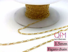 1 meter (3.28 Feet) Gold Filled Figaro Chain Unfinished 1.5mm
