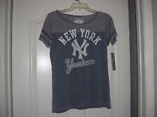 Alyssa Milano Touch New York Yankees MLB Baseball Womens Cotton T-Shirt,sz L,NWT