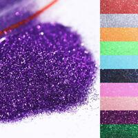 20g Holographisch Nagel Pulver Glitzern Pailletten Shimmer Nail Art Decorations