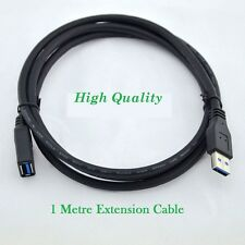1 M USB 2.0 EXTENSION CABLE LEAD A MALE PLUG TO A FEMALE BLACK EXTENSION CABLE