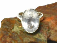 ROSE  QUARTZ   Sterling  Silver  925  Gemstone  RING -  Size O  -  Gift  Boxed!