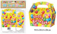 10 Happy Birthday Treat Boxes - Small Cupcake Food Loot Cardboard Gift