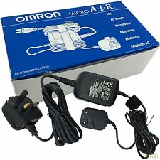 NEW! Omron MicroAir NE-U22 Nebuliser AC UK Plug Mains Power Adaptor Cradle Dock
