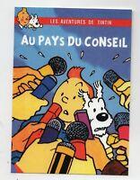 PASTICHE. Carte postale Tintin - AU PAYS DU CONSEIL - Hors Commerce 2016