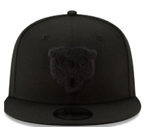 New Era NFL Chicago Bears Head Logo Basic Snapback Black on Black