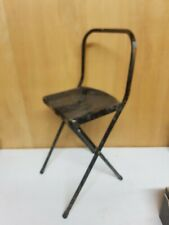 Vintage Childs industrial Folding Metal Chair Seat