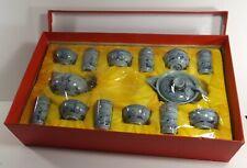 15- Piece Vintage Gorgeous Chinese Miniature Porcelain Refined Ceradon Tea Set