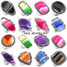 20 PCs Lot Natural Multi Banded Agate Gemstone 925 Sterling Silver Plated Rings