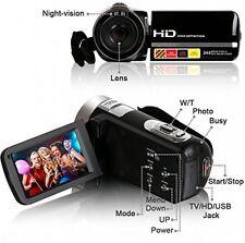 Cámara de vídeo, besteker portátil HD 1080p Visión Nocturna IR Max. 24.0 MP cámara