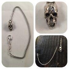 skull pocket watch chain Memento mori anatomical laughing