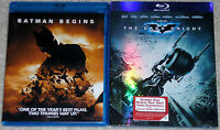 Action Blu-ray Lot - Batman Begins (Used) The Dark Knight (New)